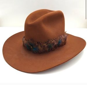 Vintage Larry Mahan's Feather Wool Cowboy Hat